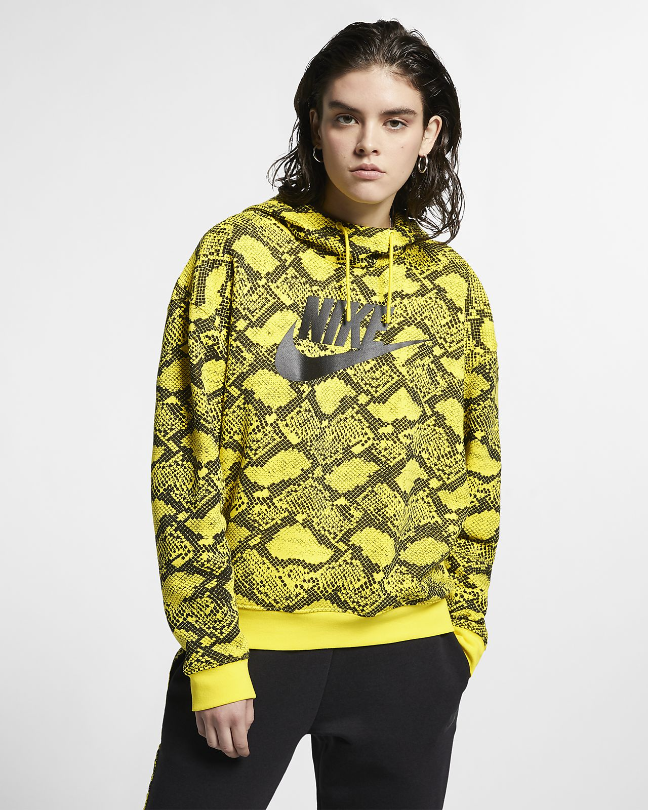Nike Sportswear Sudadera con capucha con estampado animal - Mujer