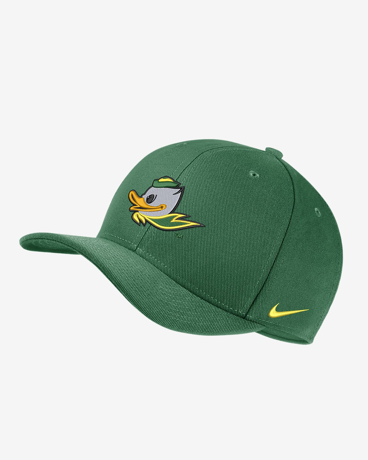 8f4104a2696be Nike College Dri-FIT Classic99 Swoosh Flex (Oregon) Fitted Hat. Nike.com