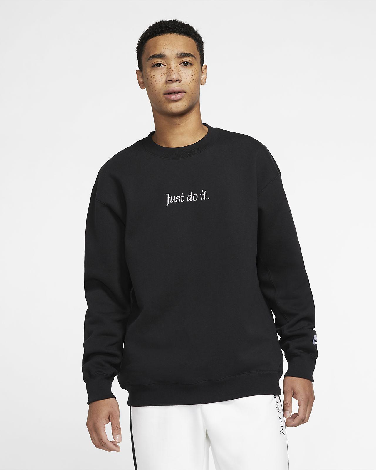 Fleecetröja med rund hals Nike Sportswear JDI Heavyweight för män