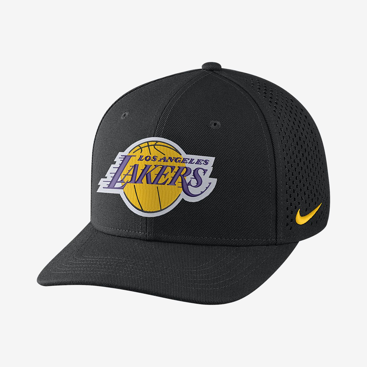 3b03a53527 Los Angeles Lakers Nike AeroBill Classic99 Unisex Adjustable NBA Hat ...