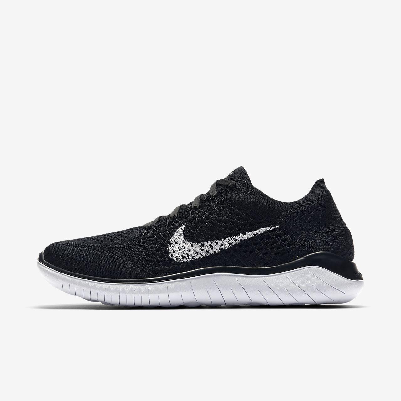 save off 04f03 a637d Nike Wmns Free RN Flyknit 2018, Zapatillas de Running para Mujer, Negro ( Black