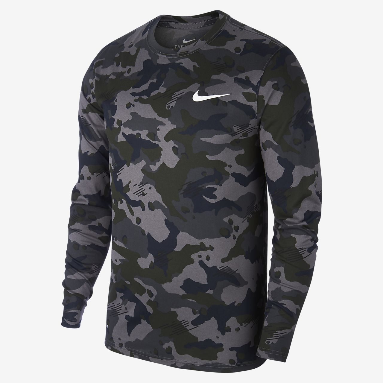 Nike Dri-FIT Legend Men s Long-Sleeve Camo Training Top. Nike.com SI 248862697955