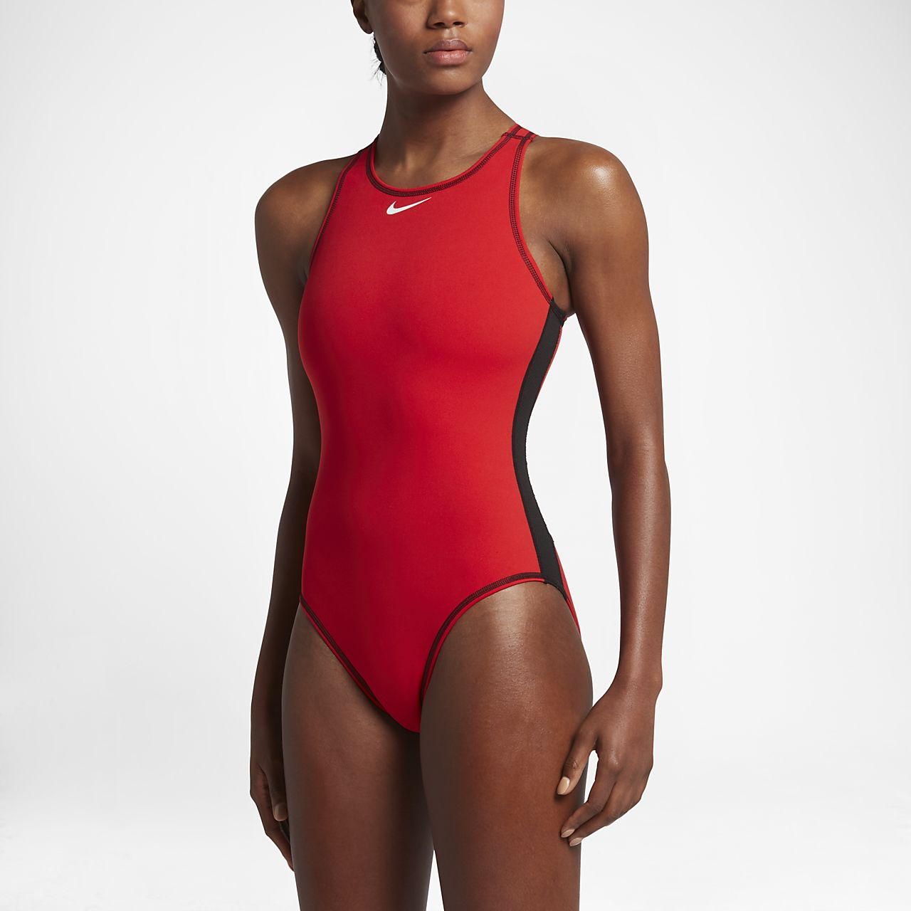 Nike Poly Core Performance Cut-Out Women's Tank Swimsuit University Red