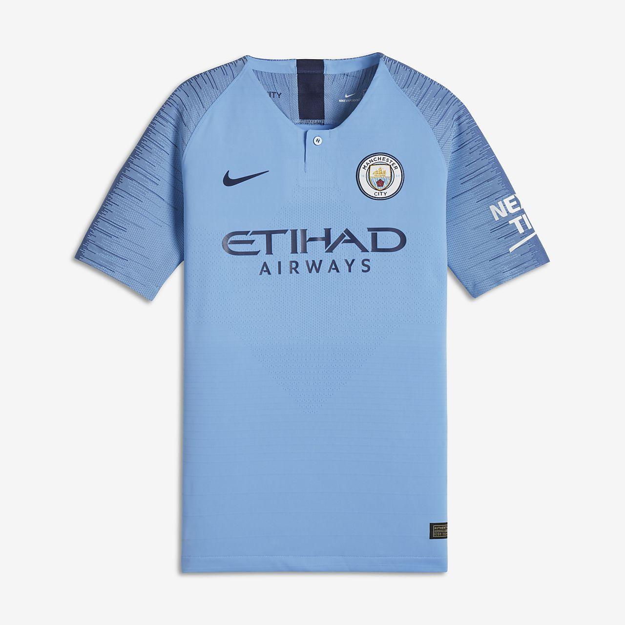 2018/19 Manchester City FC Vapor Match Home-fodboldtrøje til store børn