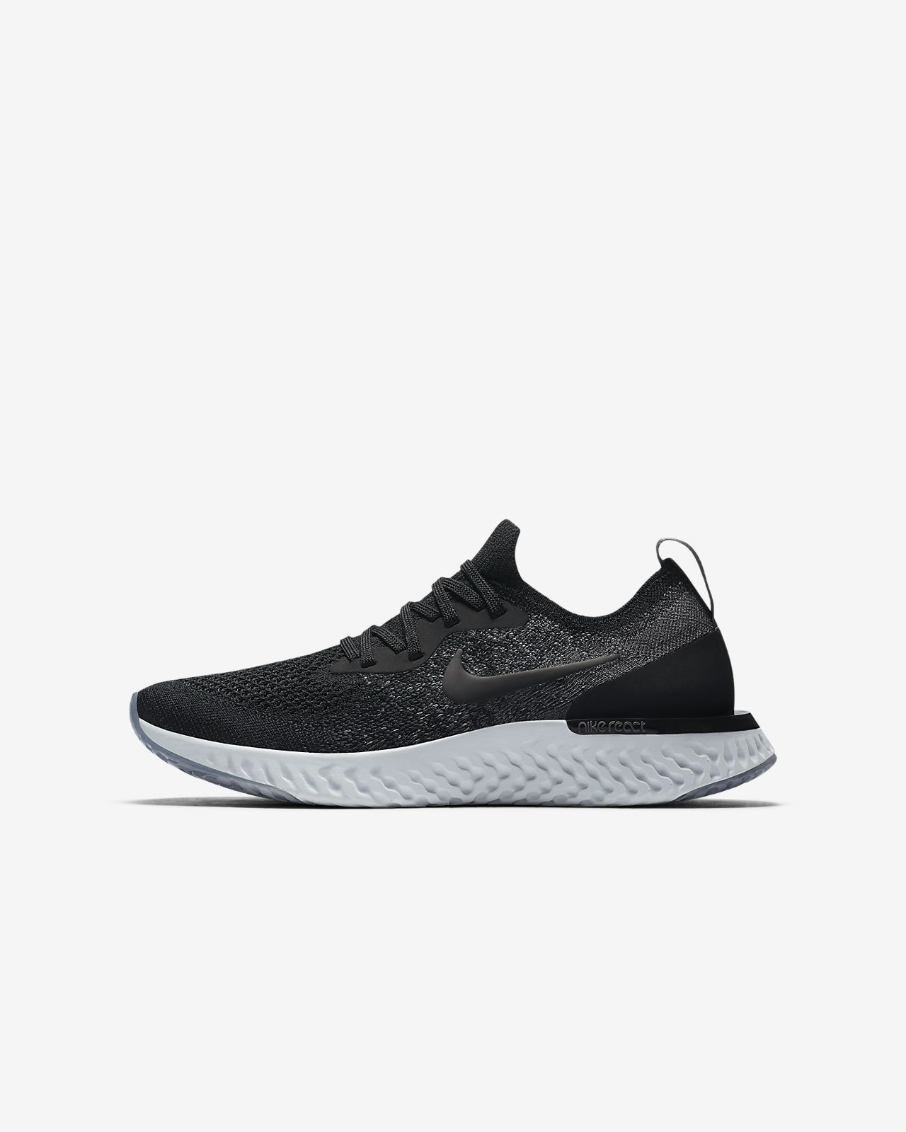 Nike Performance EPIC REACT FLYKNIT - Neutral running shoes - college navy/race LFTLxy