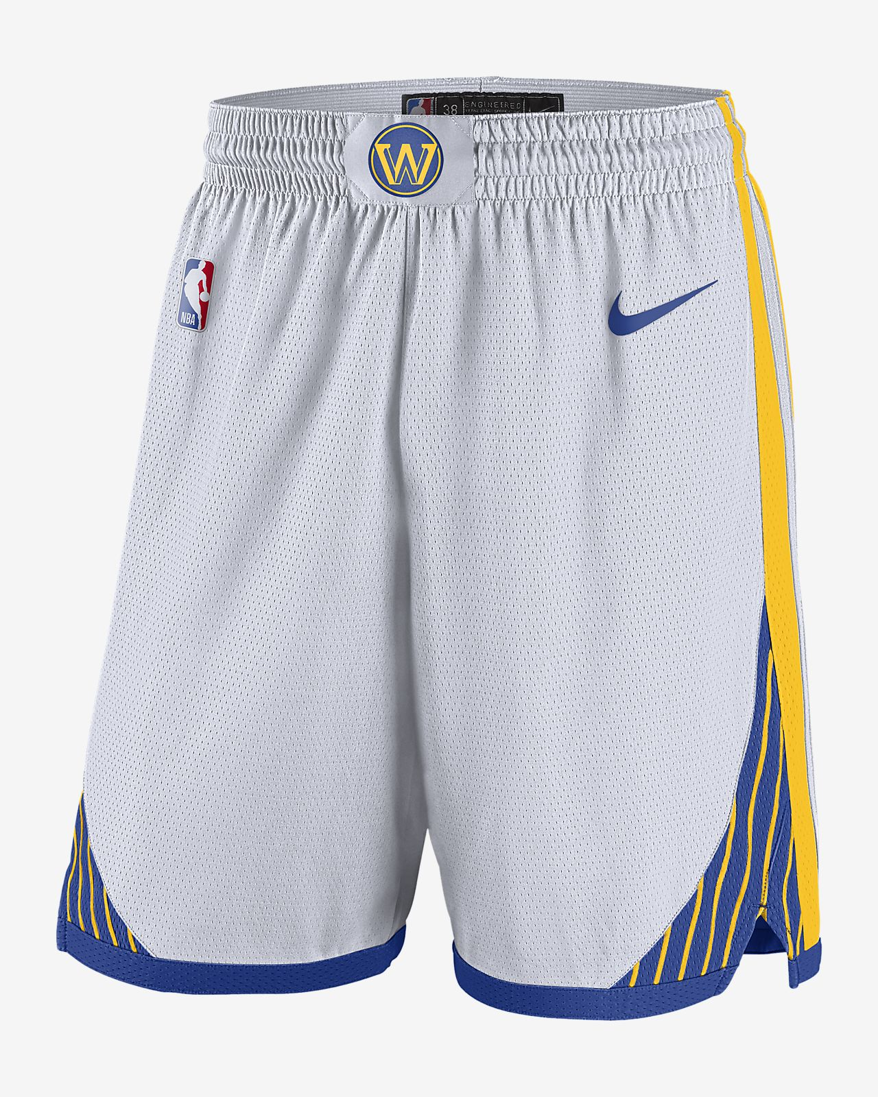 Short NBA Golden State Warriors Association Edition Swingman Nike pour Homme
