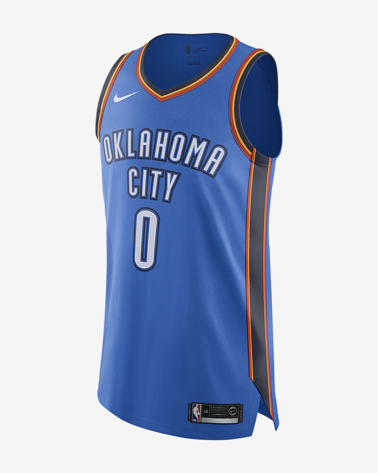 Russell Westbrook Icon Edition Authentic (Oklahoma City Thunder) tilkoblet Nike NBA-drakt for herre