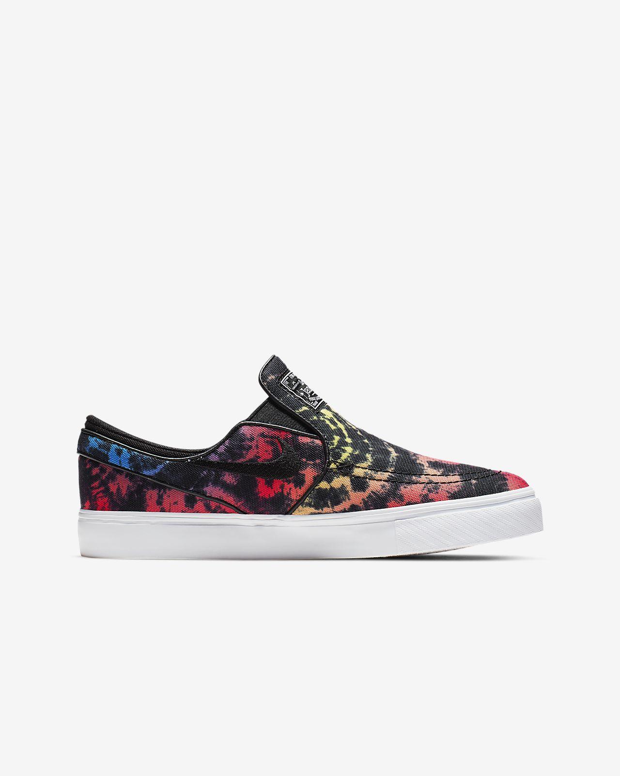 free shipping 27ec1 300a5 ... Nike SB Stefan Janoski Canvas Slip Tie-Dye Older Kids  Skate Shoe