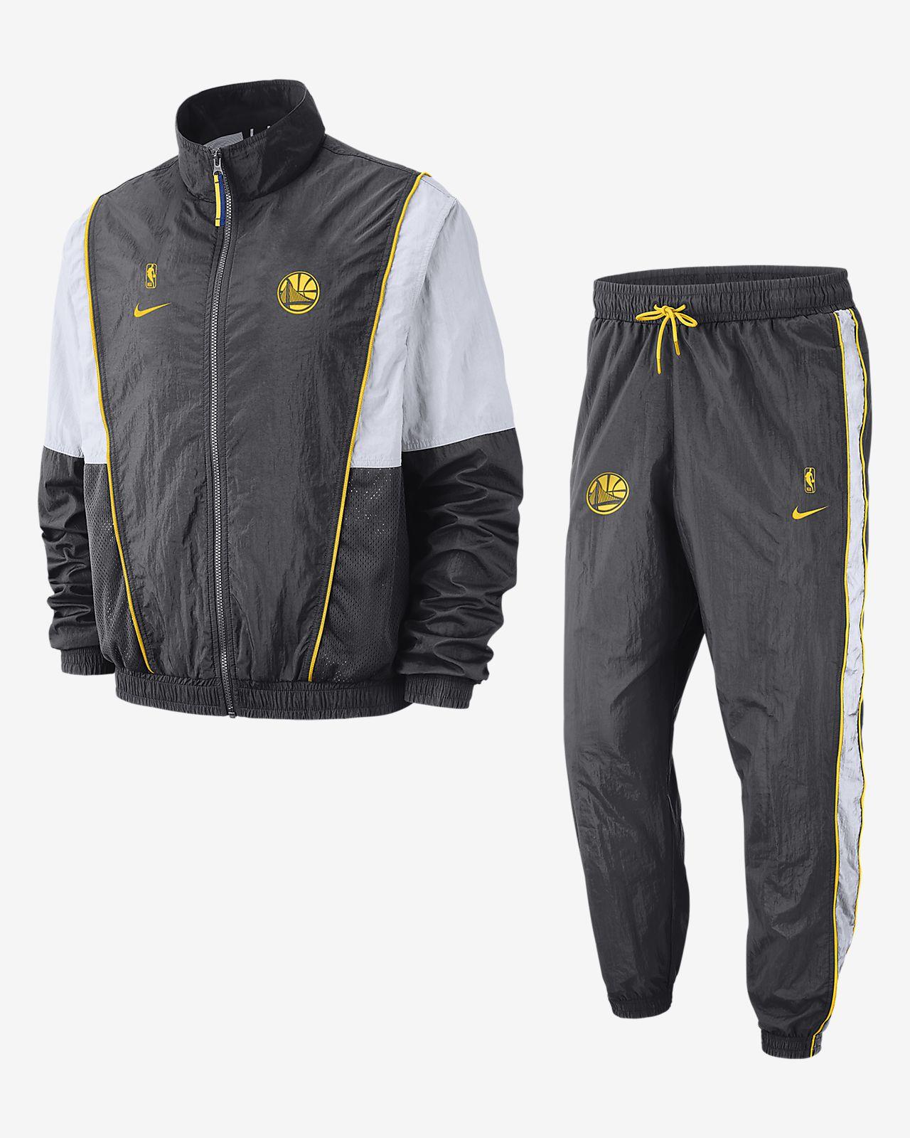 Conjunto de entrenamiento de la NBA para hombre Golden State Warriors Nike