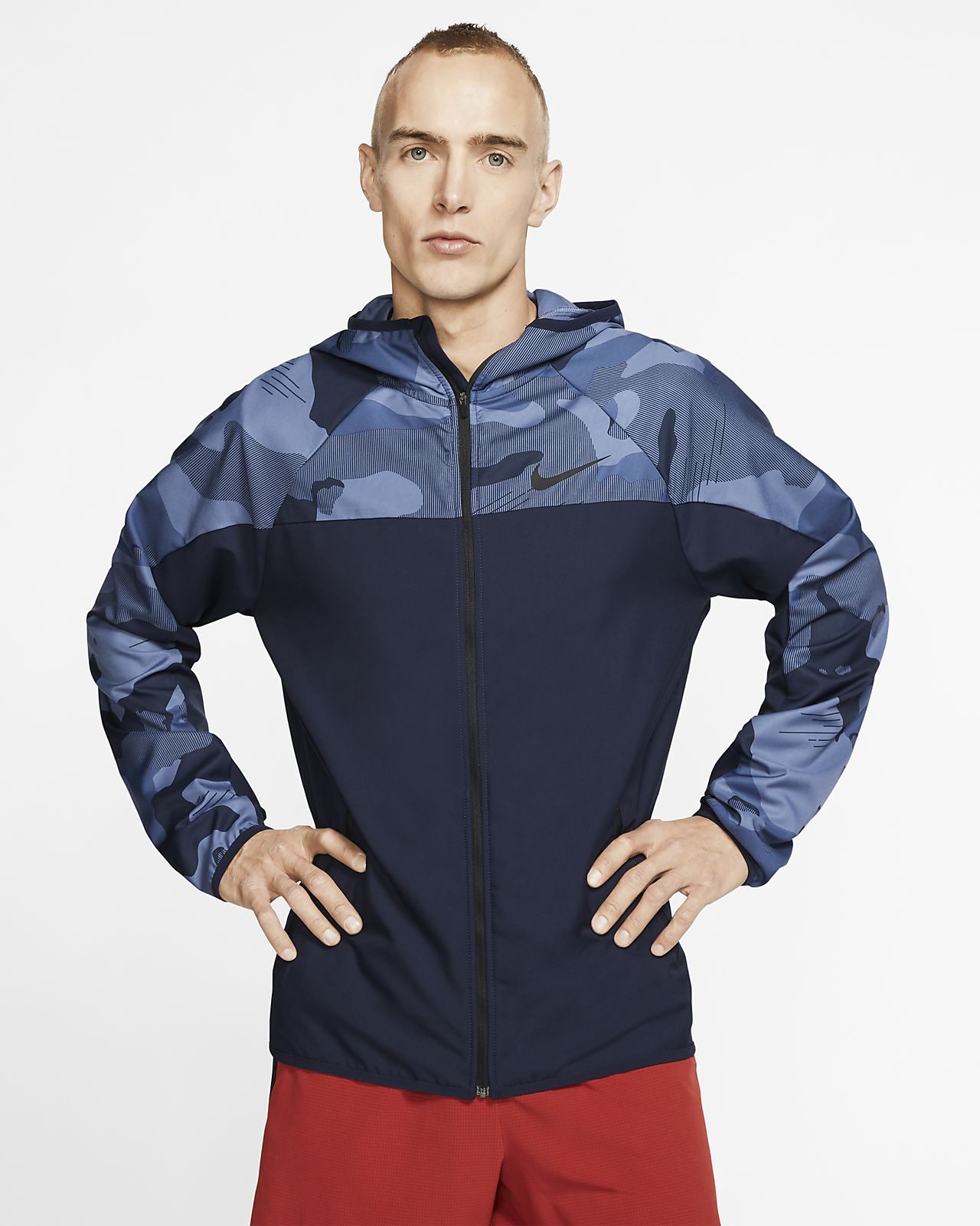 Nike Men's Full Zip Camo Training Hoodie