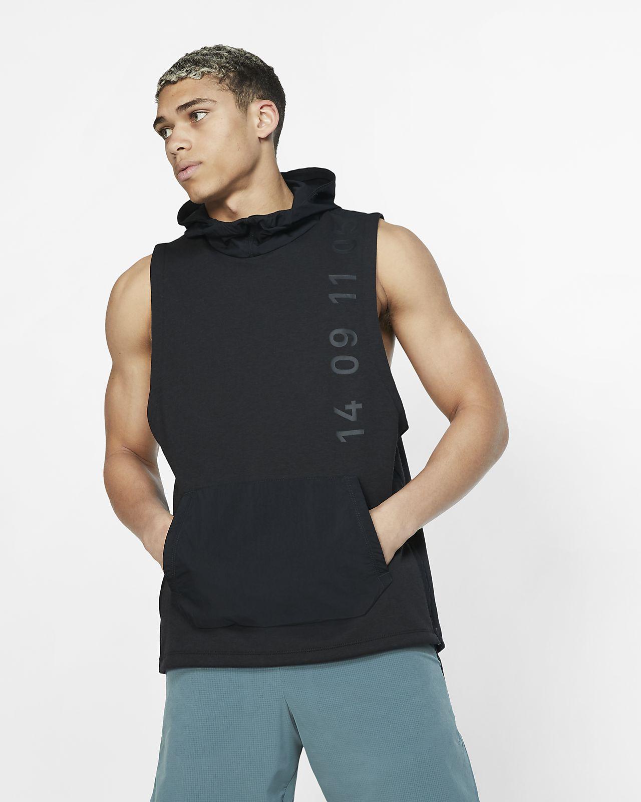 Ærmeløs Nike Therma Tech Pack-træningsoverdel med hætte til mænd