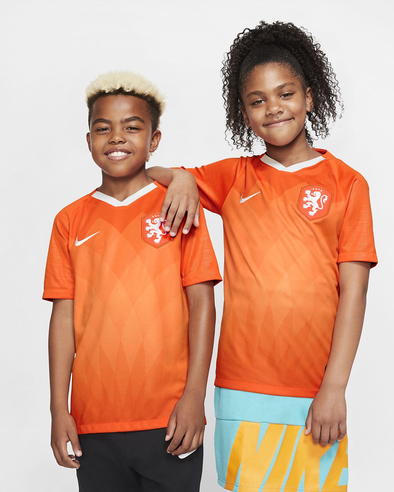 Camiseta de fútbol de local para niño talla grande Stadium de los Países Bajos 2019