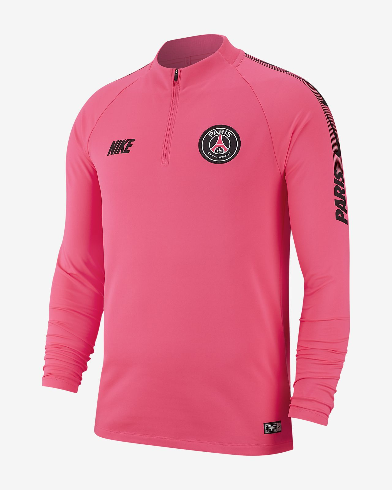 Haut de football à manches longues Paris Saint-Germain Dri-FIT Squad Drill pour Homme