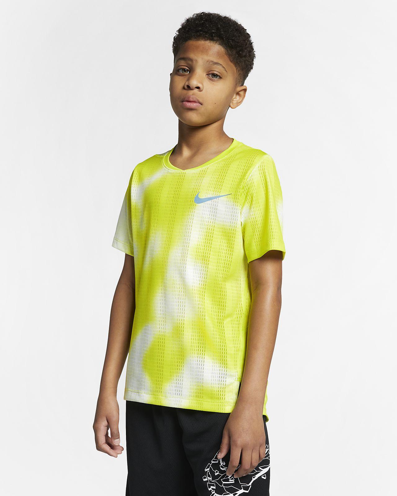 Nike Instacool大童(男孩)短袖训练上衣