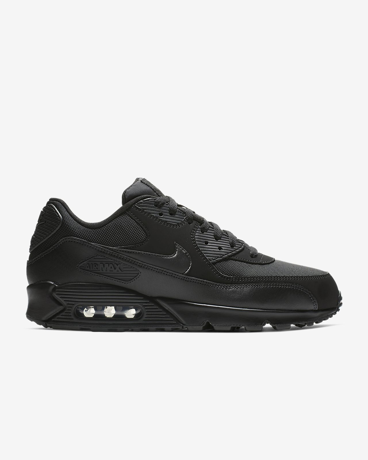 nike air max 90 essential white black