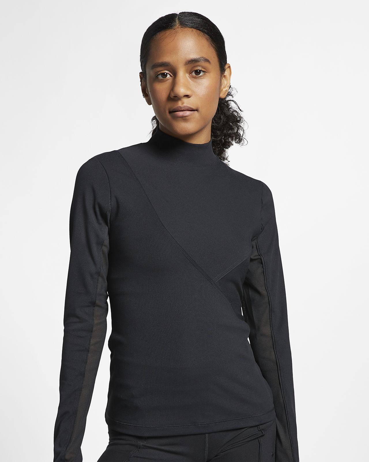 Nike Pro HyperCool geripptes Langarm-Oberteil für Damen