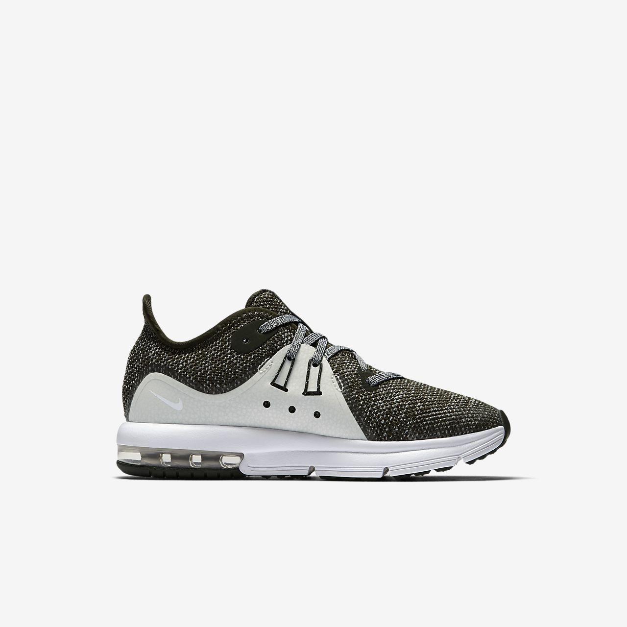 Chaussures Nike Air Max Sequent argentées garçon jHOTYfGf4