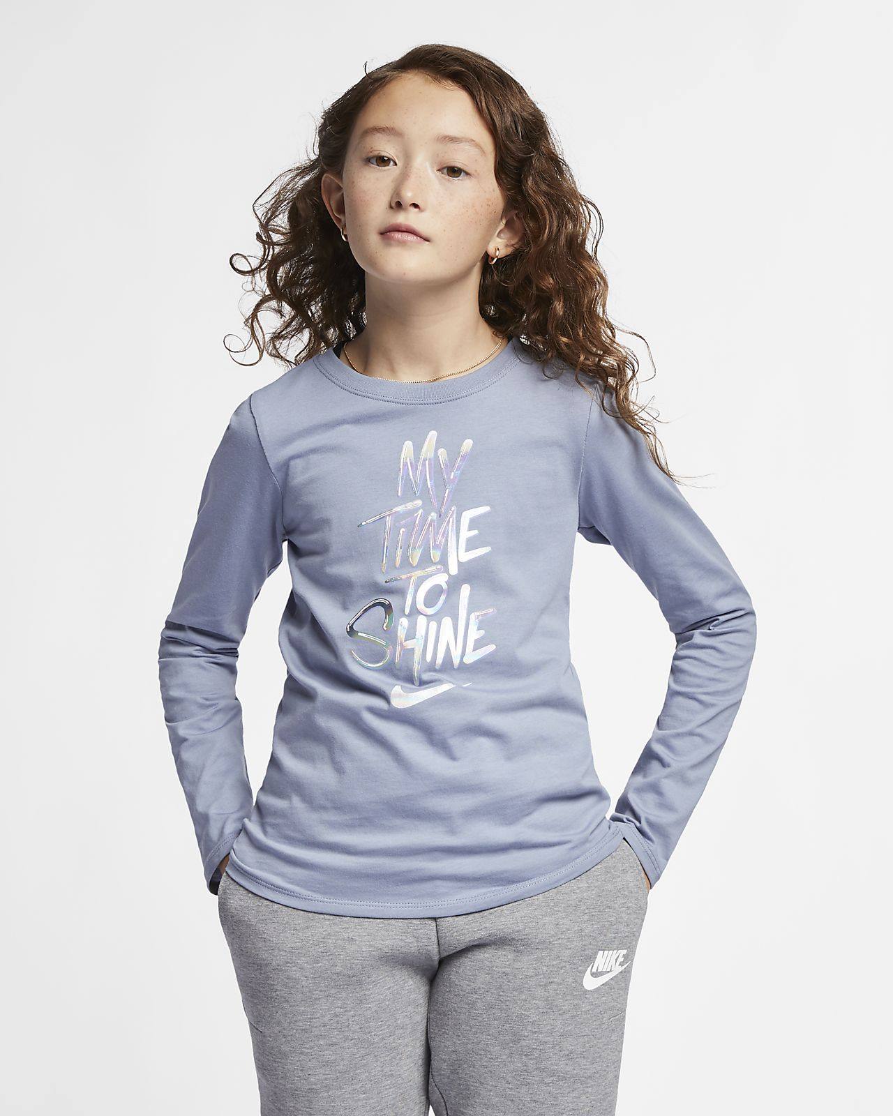 1032190f Nike Sportswear Big Kids' (Girls') Long-Sleeve T-Shirt. Nike.com