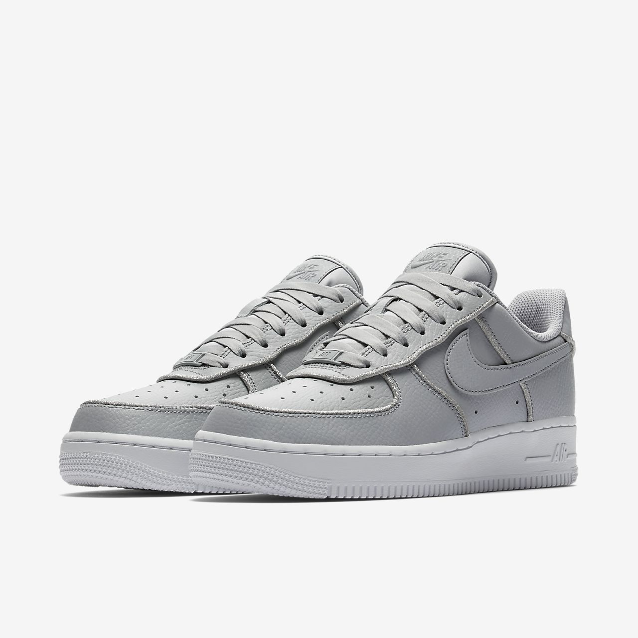 Scarpa glitter nike air force 1 low donna grigio nike grigio sneakers basse
