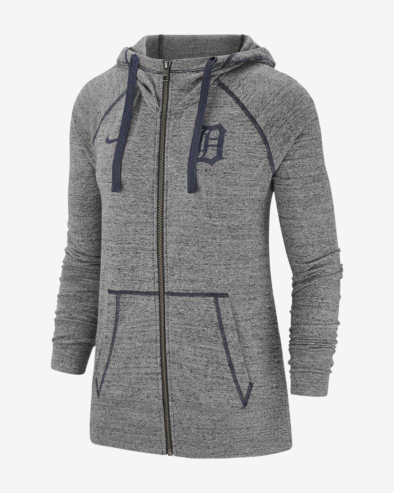 Nike Gym Vintage (MLB Tigers) Women's Full-Zip Hoodie
