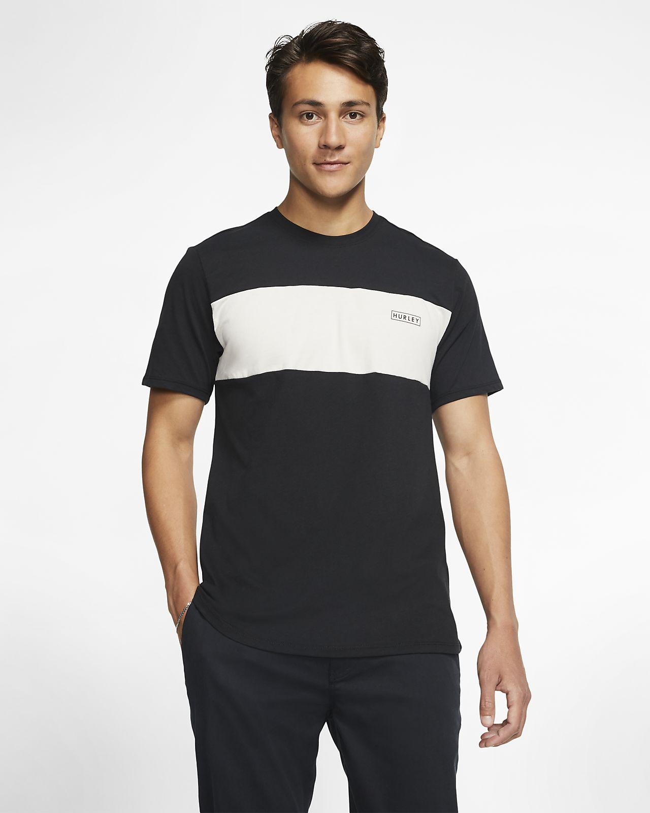 Kortärmad tröja Hurley Dri-FIT Blocked för män