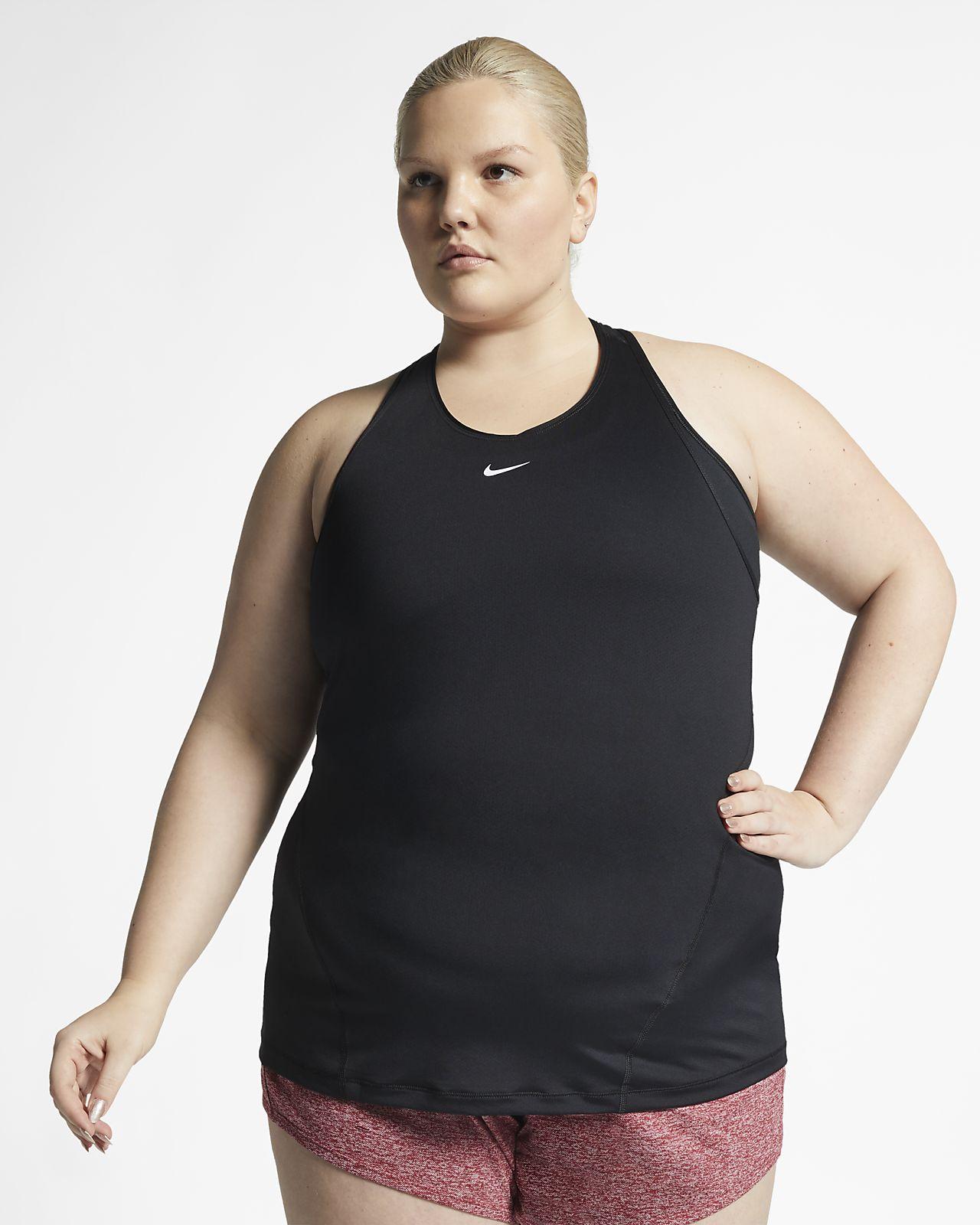 Damska koszulka bez rękawów z siateczki Nike Pro (duże rozmiary)