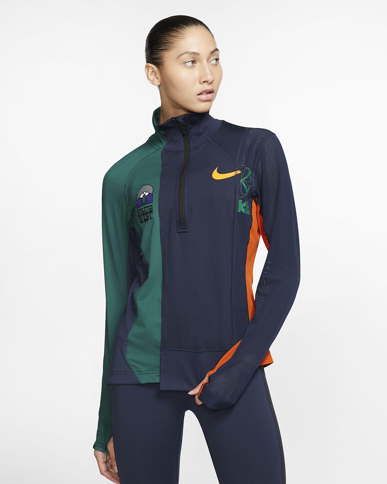 Nike x Sacai 女子半长拉链开襟跑步上衣