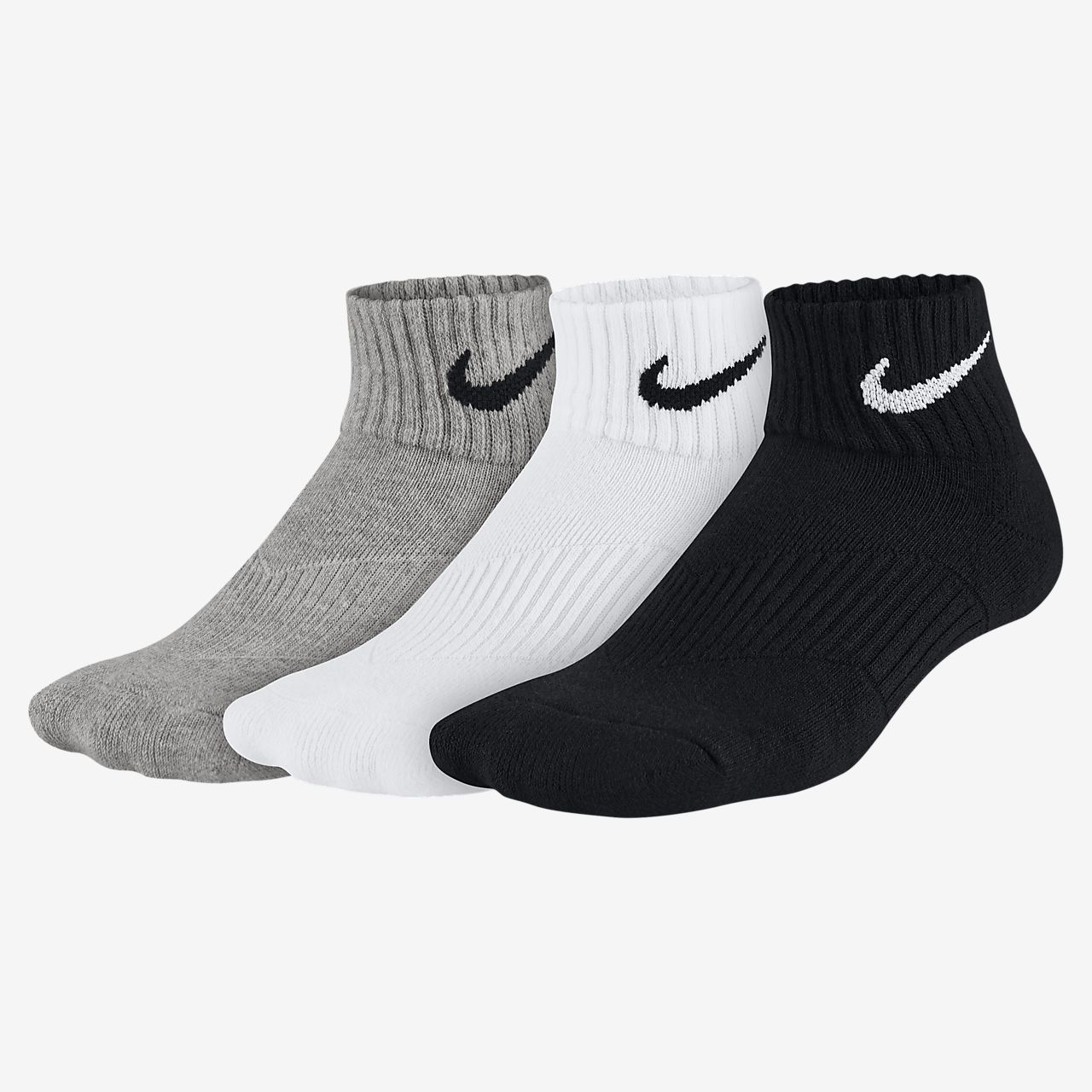 Nike Cotton Cushion Quarter Calcetines (3 pares)