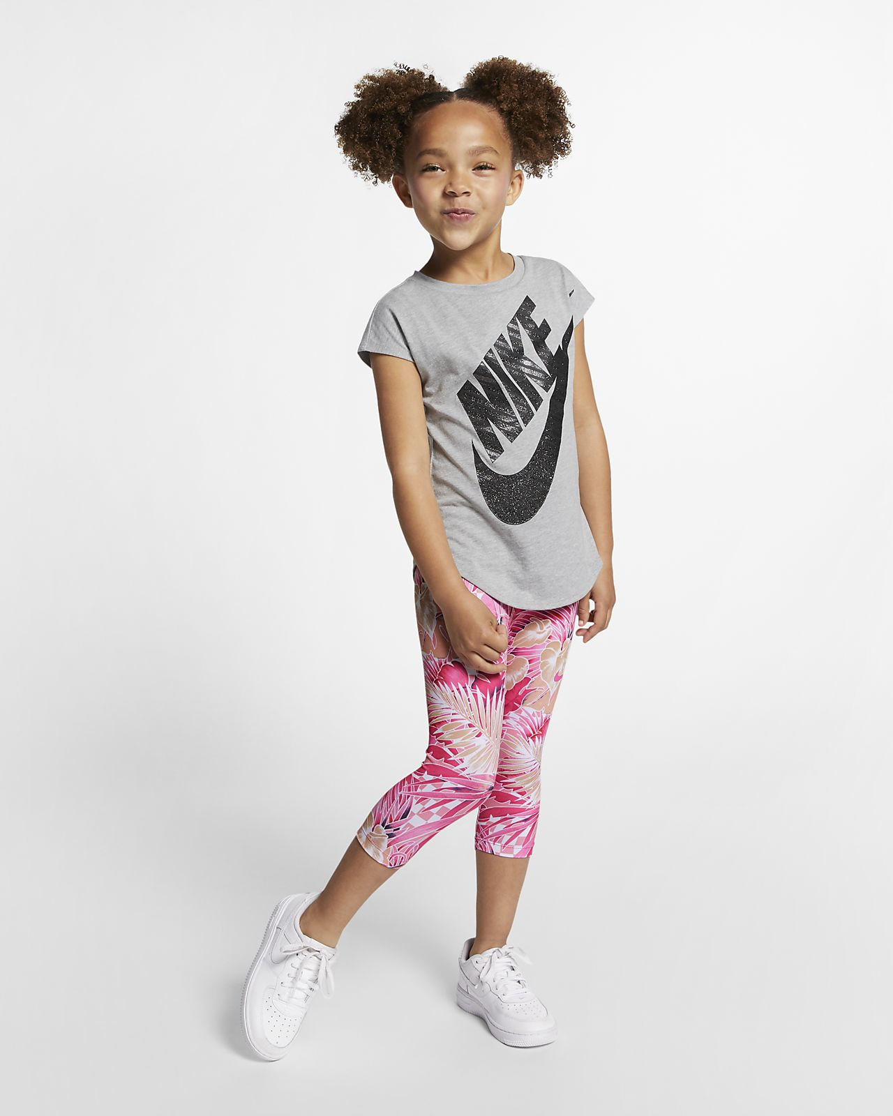 100caf8411 Nike Younger Kids' 3/4-Length Printed Leggings