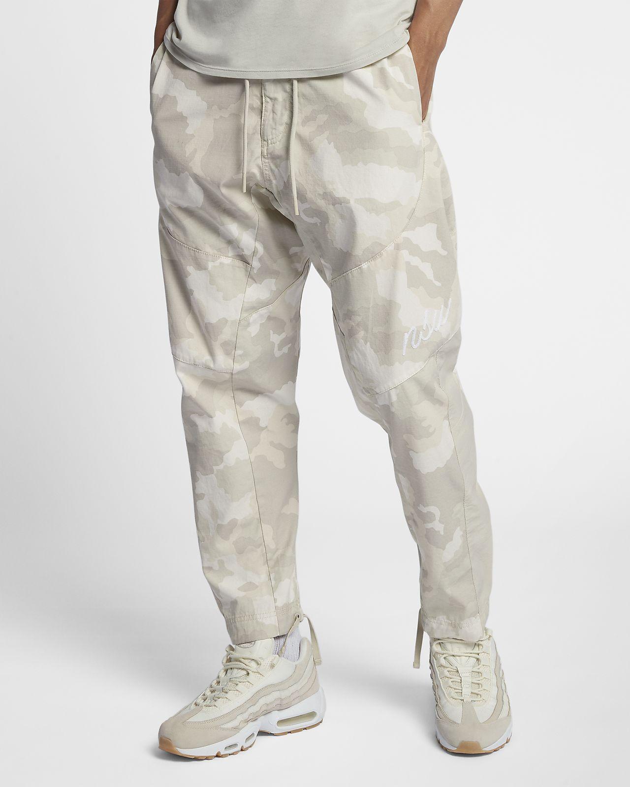 Pánské tkané maskáčové běžecké kalhoty Nike Sportswear NSW