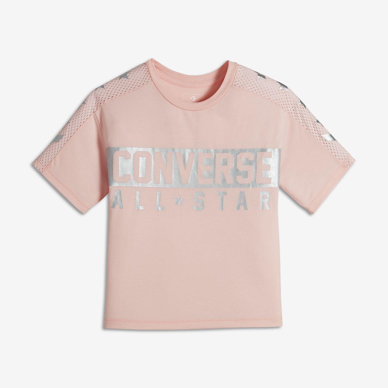 Converse Boxy Big Kids' (Girls') Knit Graphic Top