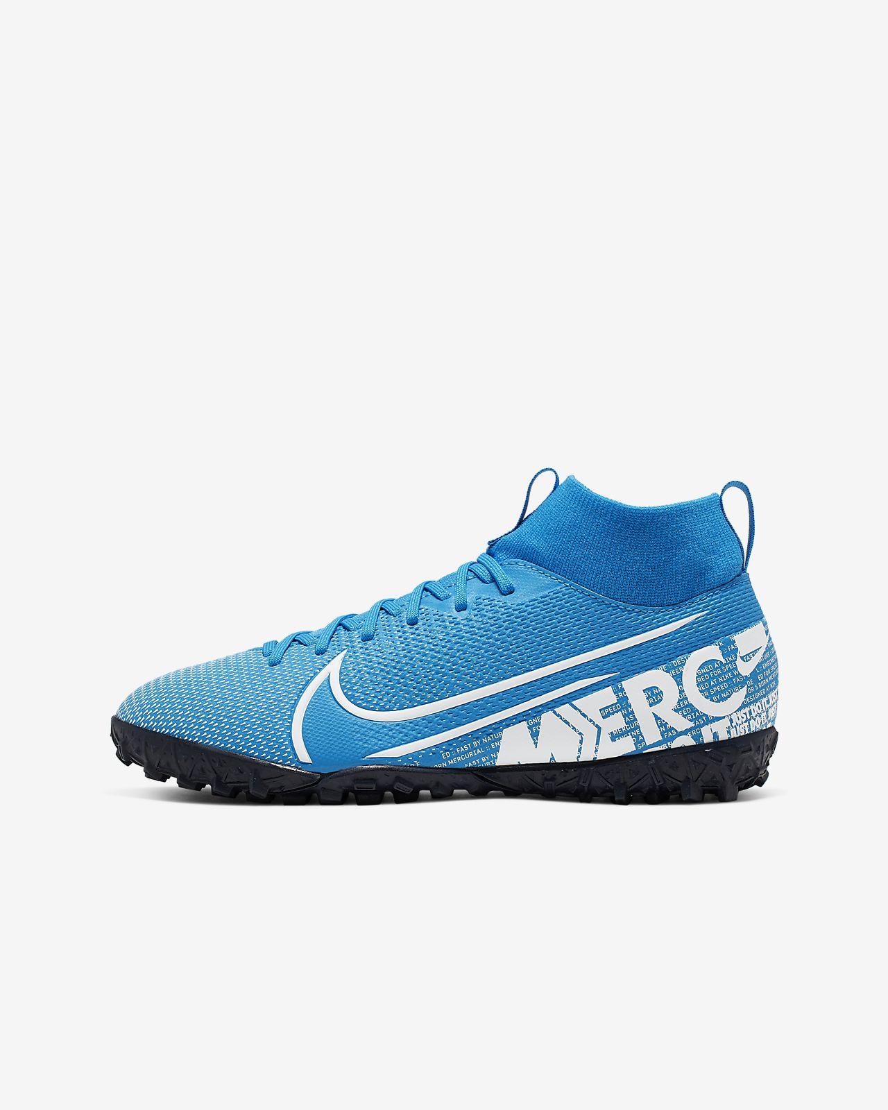Calzado de fútbol para césped deportivo artificial (turf) para niños talla pequeña/grande Nike Jr. Mercurial Superfly 7 Academy TF