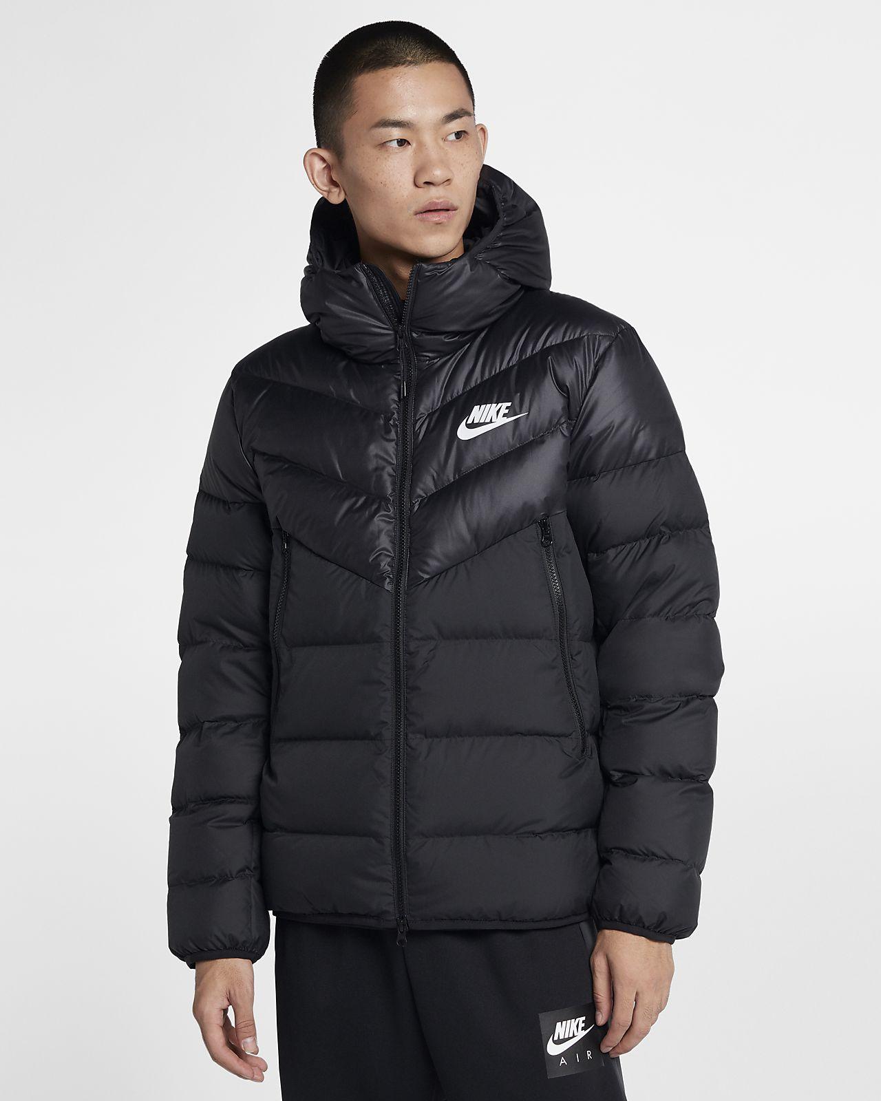 Nike – Jacke mit Kapuze – Schwarz