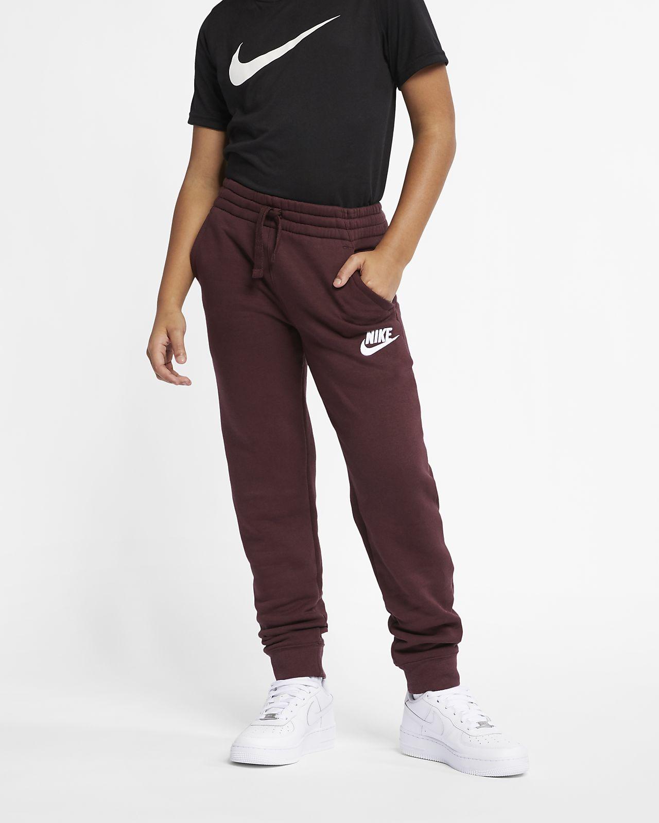 Pantalones de entrenamiento de tejido Fleece para niño talla grande Nike Sportswear