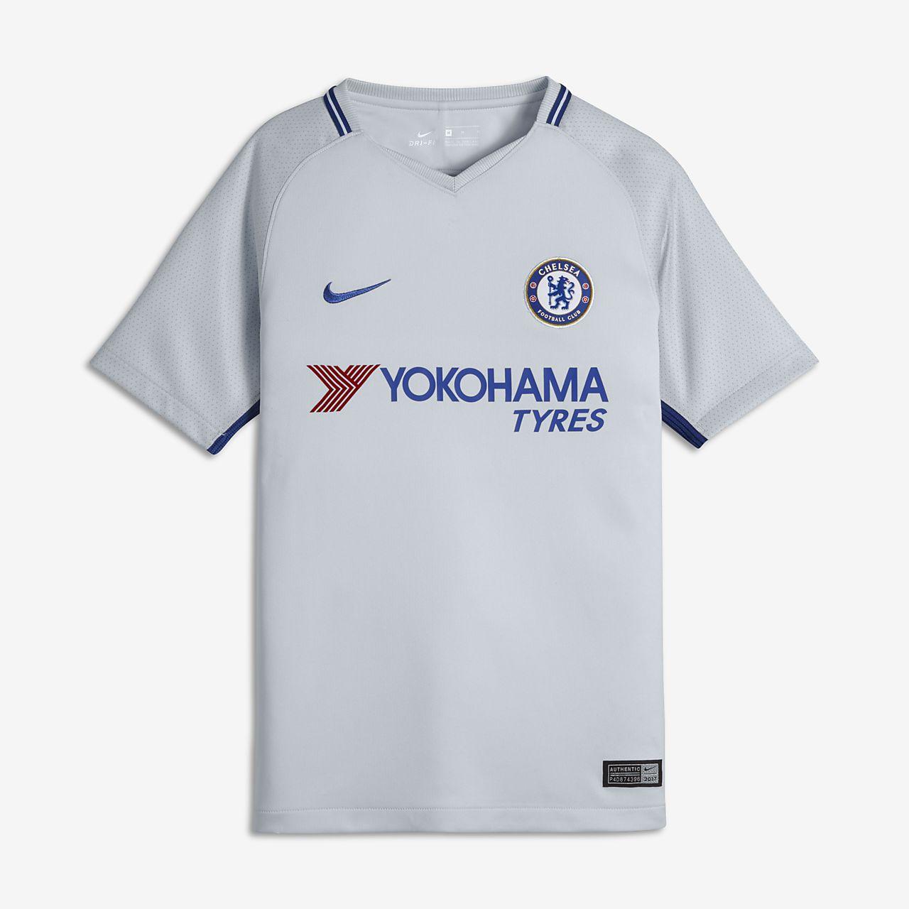2017 18 Chelsea FC Stadium Away Camiseta de fútbol - Niño a. Nike.com ES f7d48e348dca9