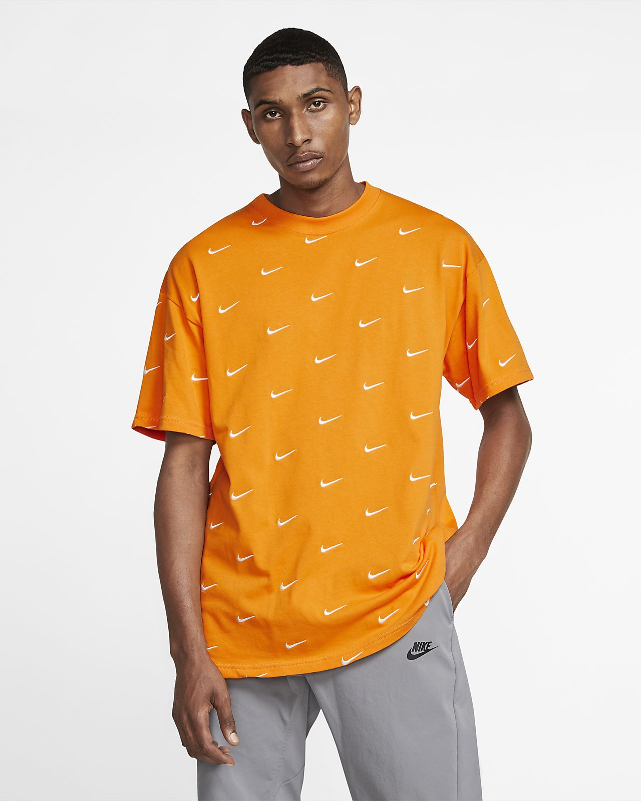 tee shirt nike orange homme