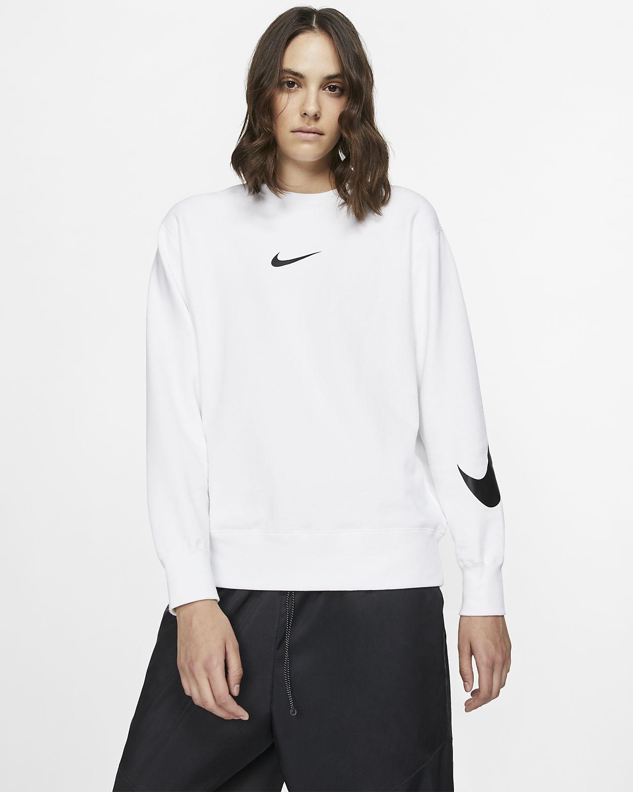 Nike Sportswear Swoosh Uzun Kollu Fransız Havlu Kumaşı Crew Üst