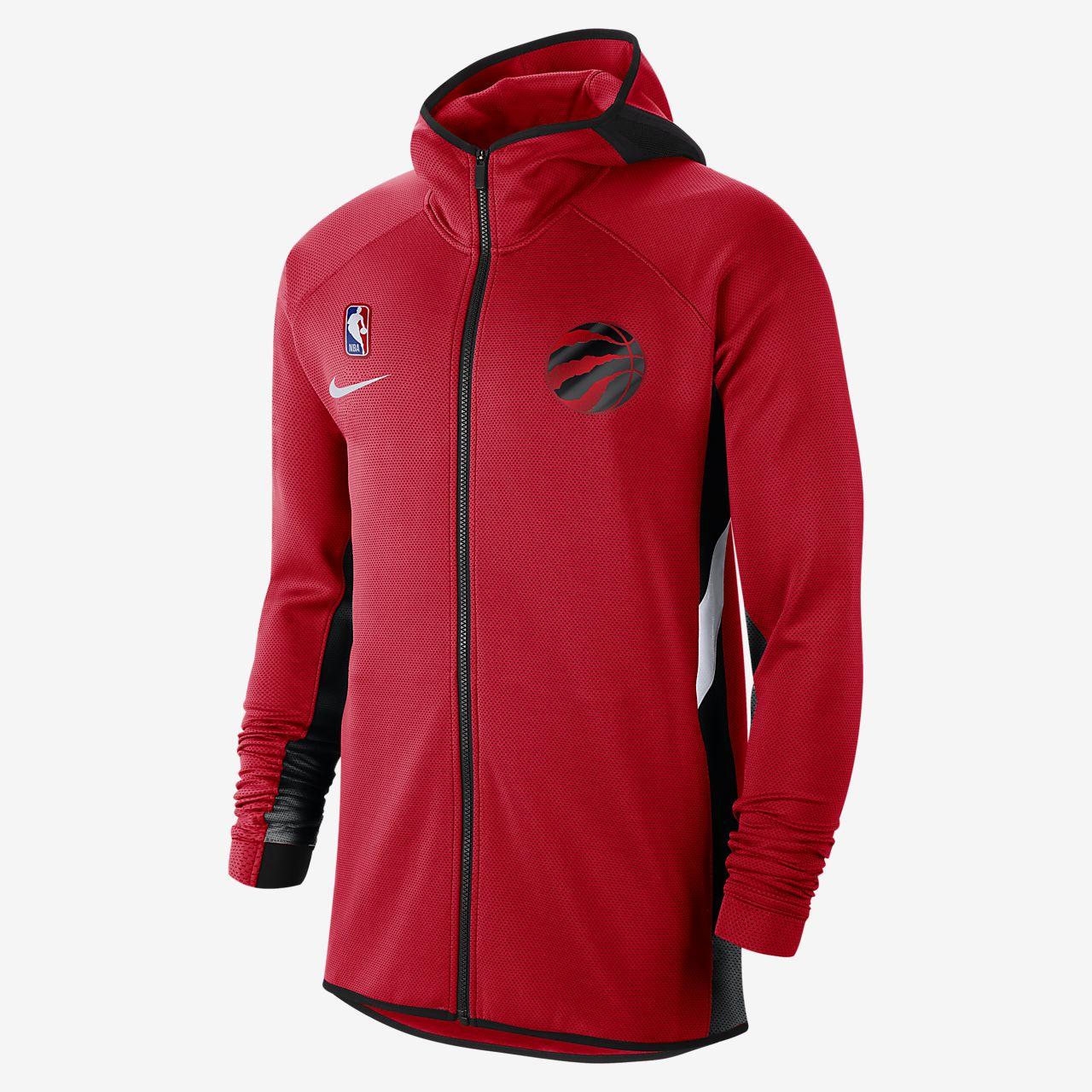 Męska bluza z kapturem NBA Toronto Raptors Nike Therma Flex Showtime