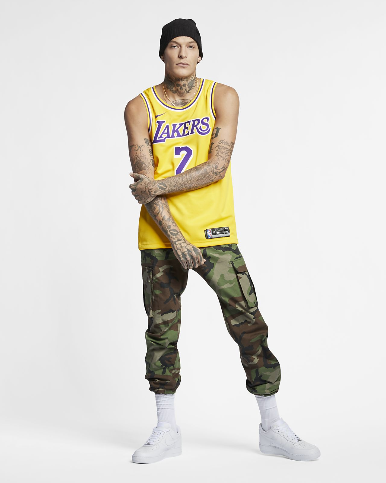 b8cb025825b3b8 ... Lonzo Ball Icon Edition Swingman (Los Angeles Lakers) Men s Nike NBA  Connected Jersey