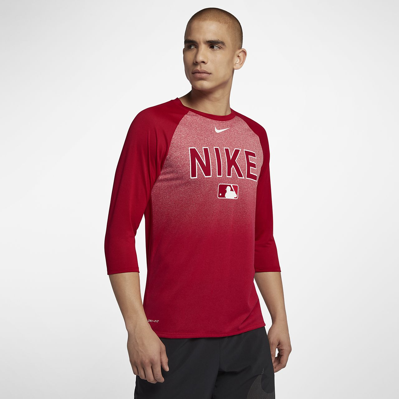 Nike Dri Fit Legend Raglan Mlb Mens 34 Sleeve Baseball T Shirt
