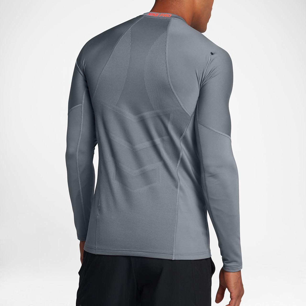 Nike Top de manga larga gris de Nike Plus Training ph2PJOC8g