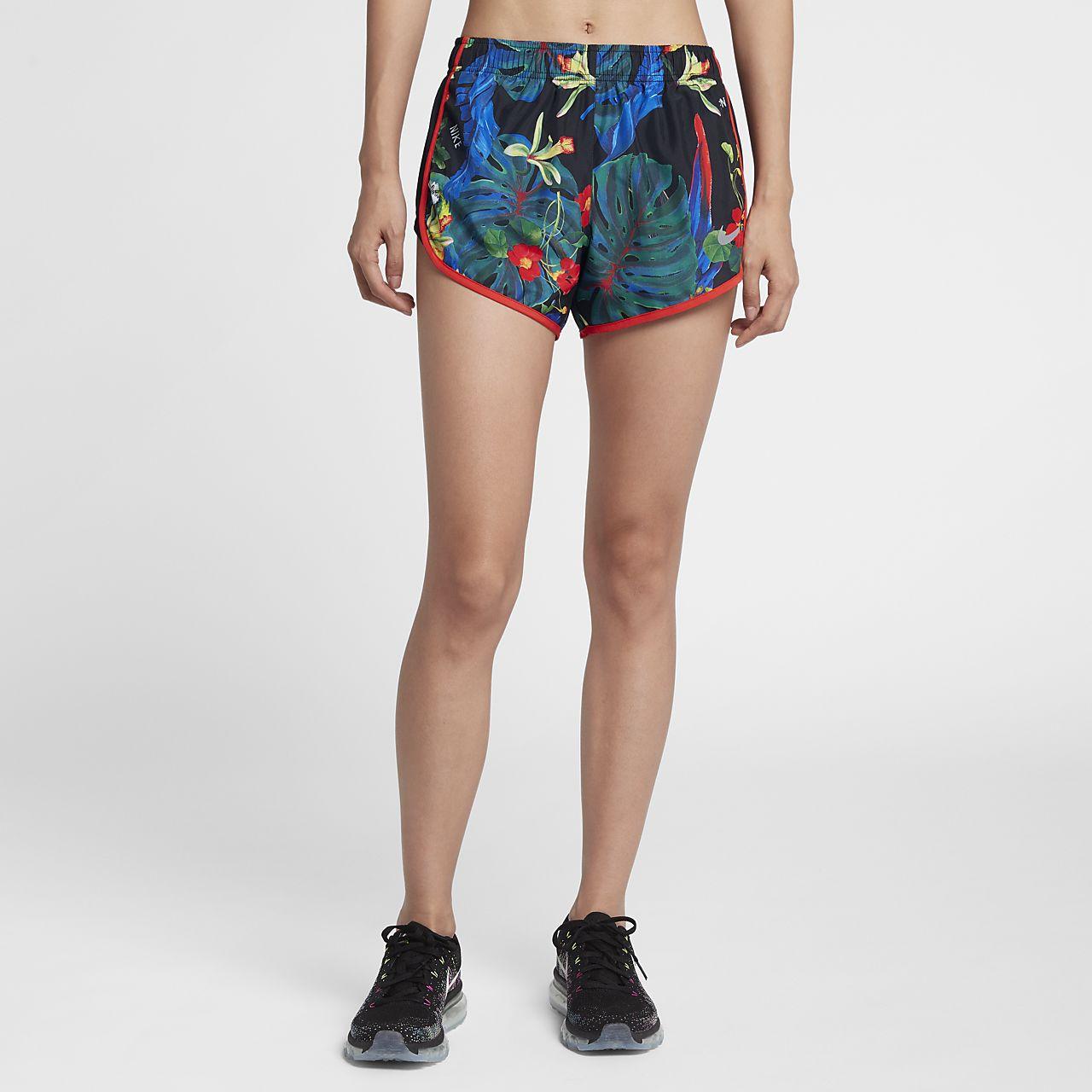 กางเกงวิ่งขาสั้นผู้หญิงพิมพ์ลาย Nike Tempo