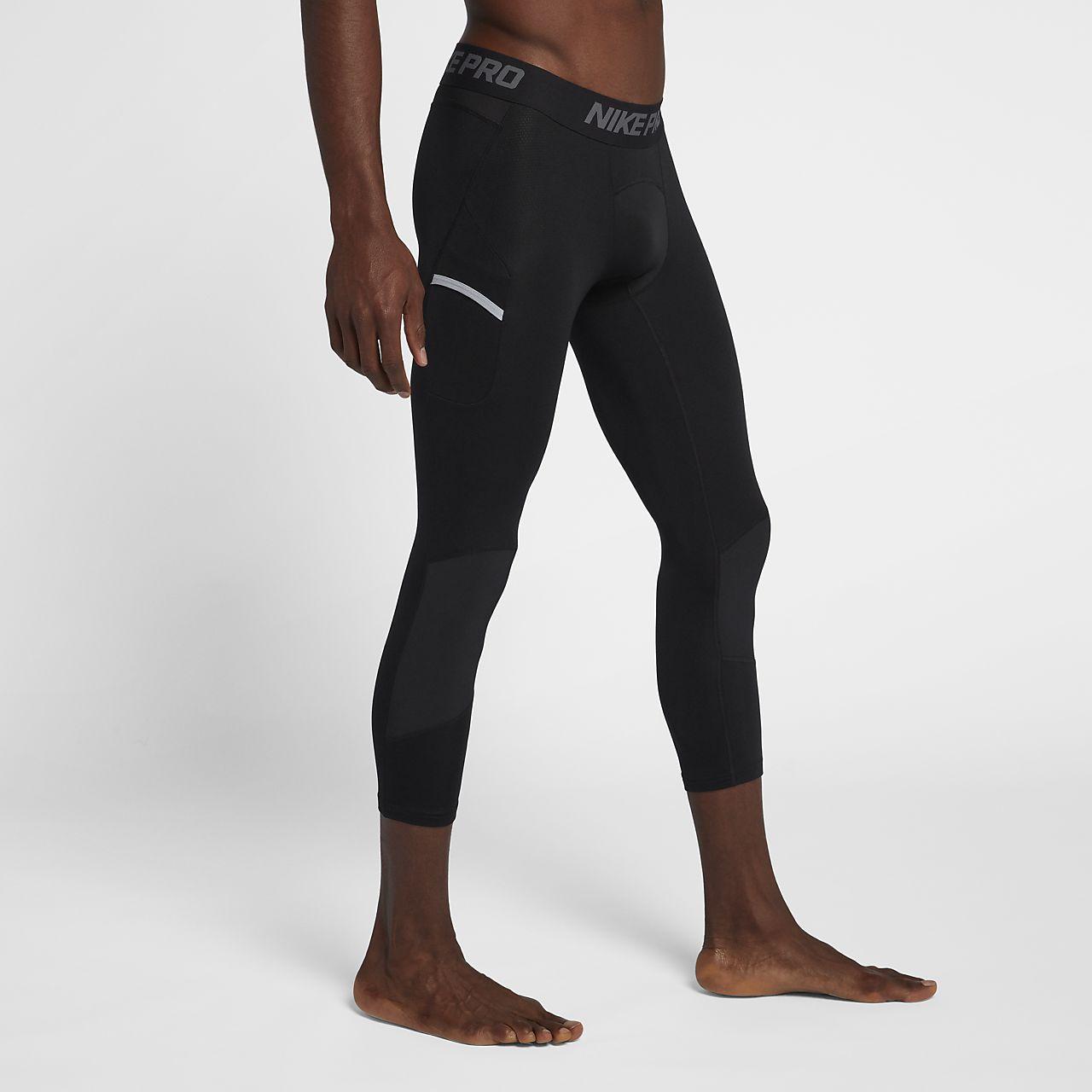กางเกงรัดรูปบาสเก็ตบอลสามส่วนผู้ชาย Nike Pro Dri-FIT