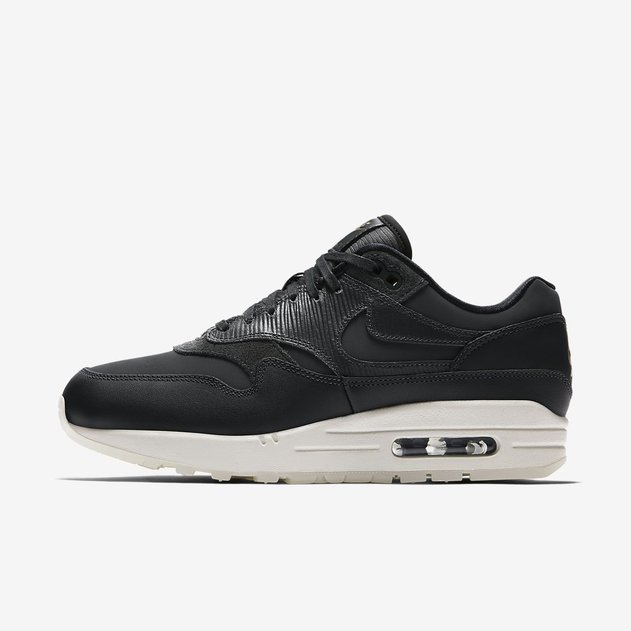 nike air max 1 black and white womens