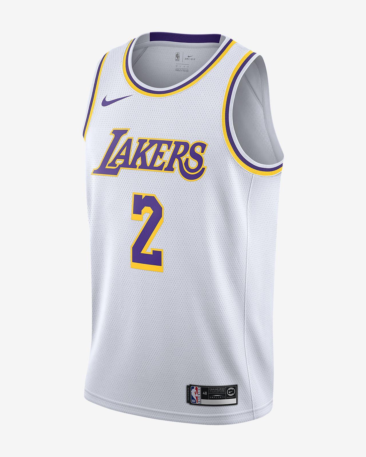 Camiseta conectada para hombre Nike NBA Lonzo Ball Association Edition Swingman (Los Angeles Lakers)