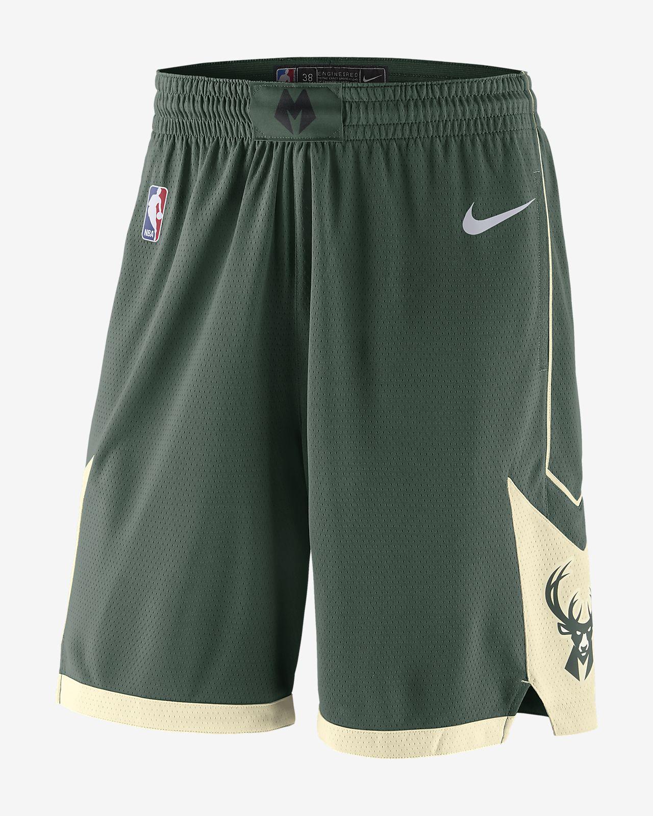 Shorts de la NBA para hombre Milwaukee Bucks Icon Edition Swingman