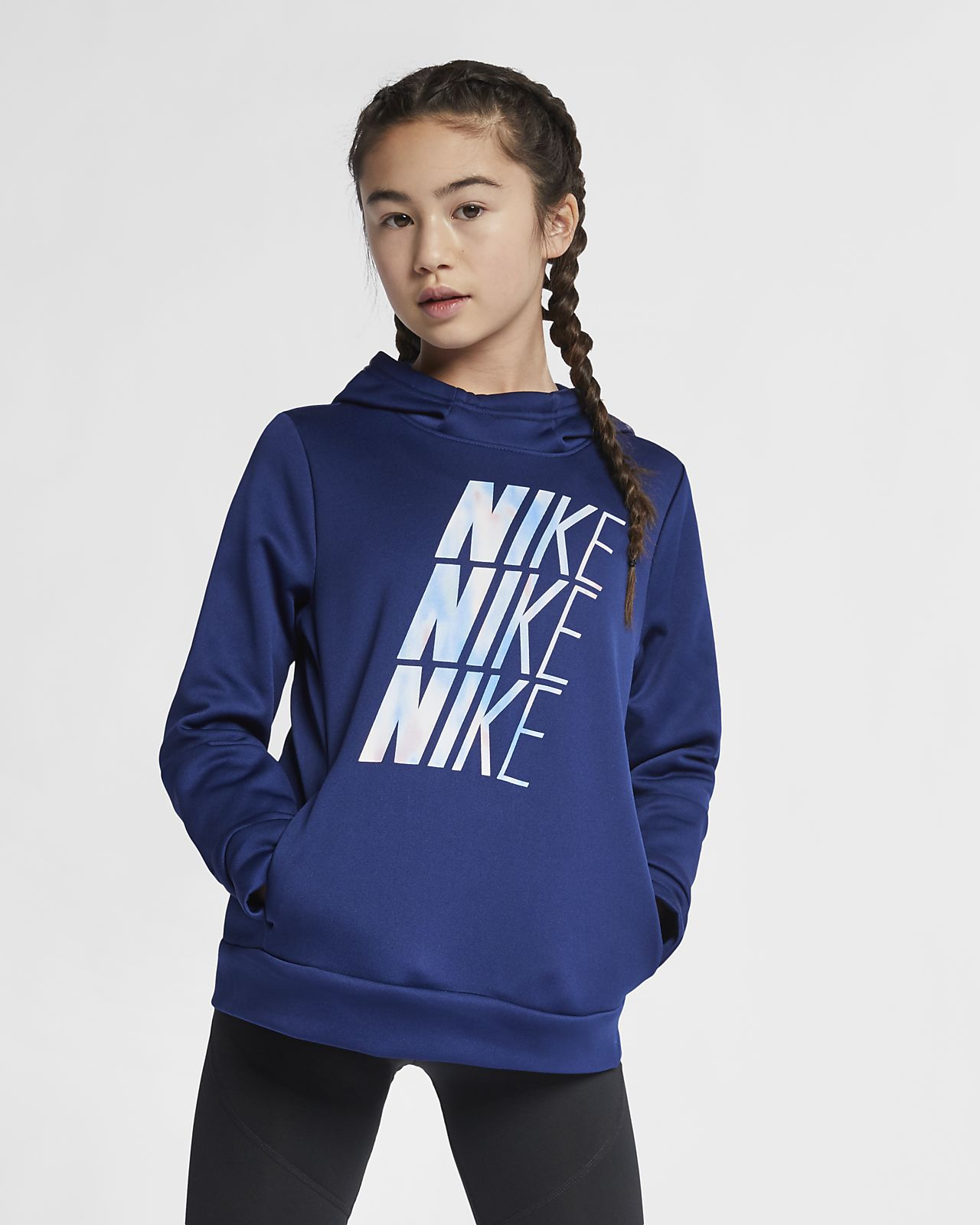5454a90e12a78 Nike Therma Big Kids' (Girls') Training Pullover Hoodie. Nike.com