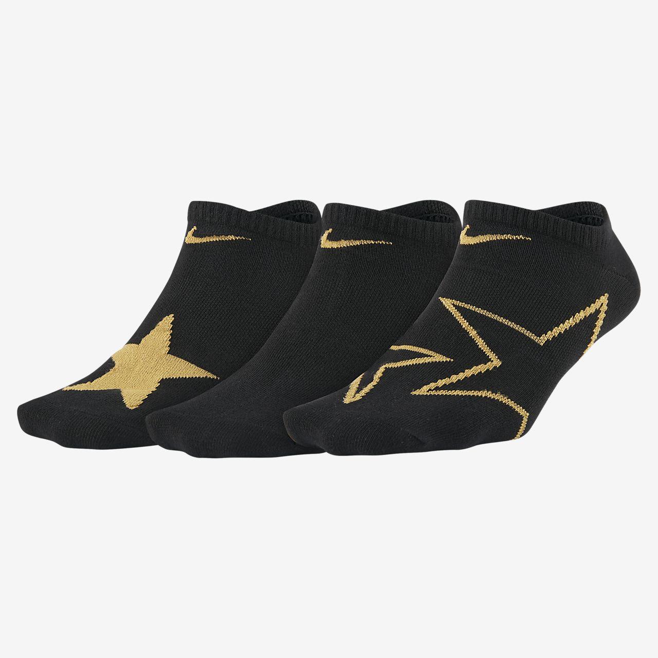 Nike Everyday Big Kids' Graphic No-Show Socks (3 Pairs)