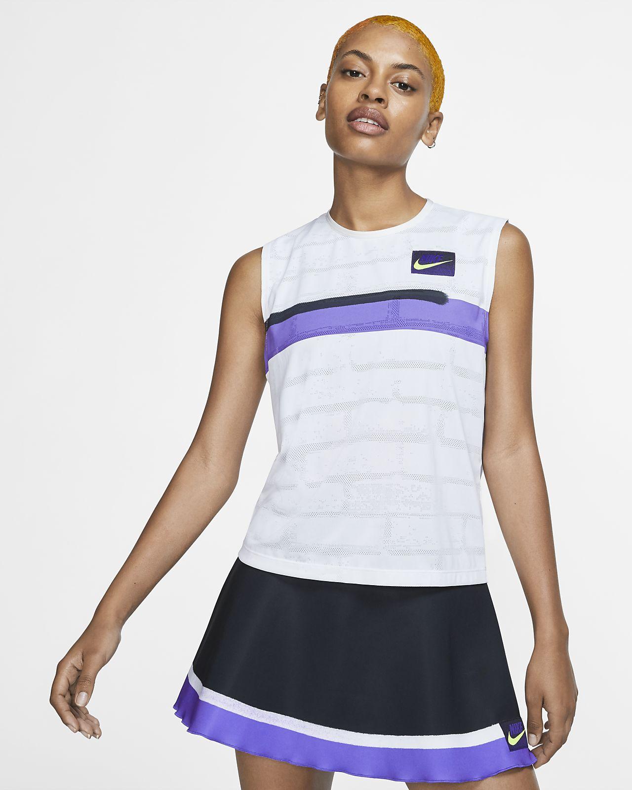 Damska koszulka do tenisa bez rękawów NikeCourt Slam