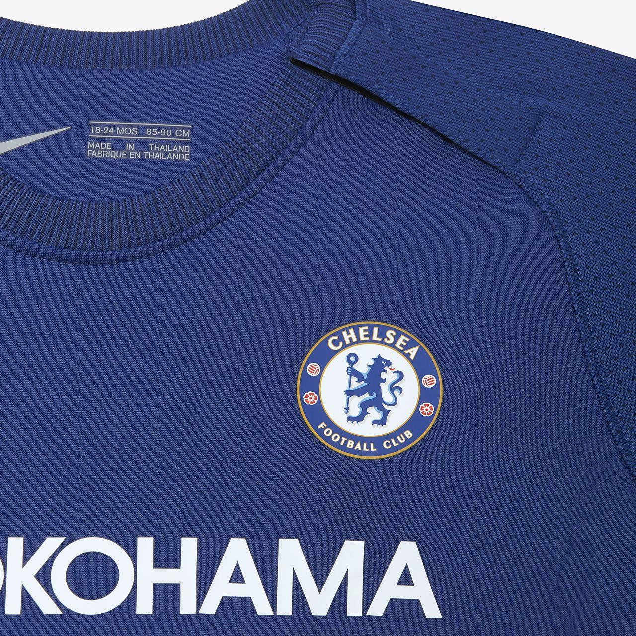 Kit de fútbol para bebé Chelsea FC de local para aficionados ... a9adf2eec6a47